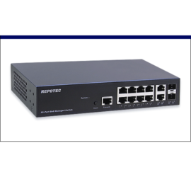 REPOTEC 8-P Gigabit + 2-TP/SFP (100/1G) combo L2+ Managed Switch | RP-G2610I