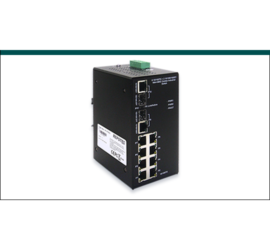 REPOTEC 8-Port 10/100TX + 2-P 1000T/SFP Industrial Ethernet Switch | RP-ISF082G