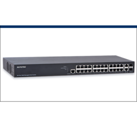 REPOTEC 24-P Gigabit + 2-TP/SFP(100/1G) combo L2+ Managed PoE+ Switch | RP-PG2626IF