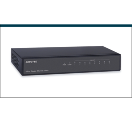 REPOTEC 8-P Gigabit Ethernet Switch with Loop Detection + QoS | RP-G3800Q