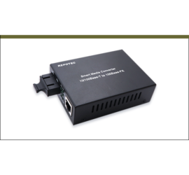 REPOTEC 10/100Base-TX to 100Base-FX Smart ethernet Media Converter | RP-MC301SC