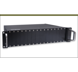 REPOTEC 16-Slot Media Converter Rack for RP-MC211 series | RP-MCR216