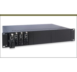 REPOTEC 14-Slot Media Converter Rack | RP-MCR314