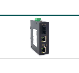 REPOTEC 2-P 10/100Base-TX PoE to 100Base-SX Industrial Media Converter | RP-IMC621SC