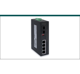 REPOTEC 4-P Gigabit PoE + 1-SFP(100/1G) slot Industrial Switch | RP-IPG402A