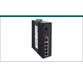 REPOTEC 5-P Gigabit + 1-SFP(100/1G) slot Industrial Switch, W/ 4-Port PoE+ | RP-IPG411-12V