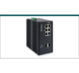 REPOTEC 6-P Gigabit + 2-SFP(100/1G) slot Industrial Managed Switch, w/ 4-P PoE+ | RP-IPG508-2F