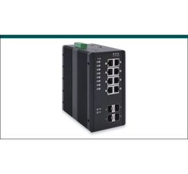REPOTEC 8-P Gigabit + 4-SFP(100/1G) slot Industrial Managed 802.3at PoE Switch | RP-IPG512-4F
