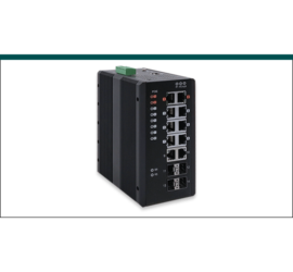 REPOTEC 8-P Gigabit PoE + 2-P Gigabit + 4-SFP(100/1G) slot Industrial Managed Switch | RP-IPG514-4F