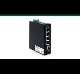 REPOTEC 5-P slim type Gigabit Industrial Switch | RP-ISG401F