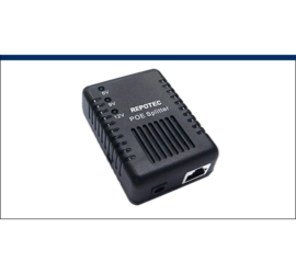 REPOTEC 10/100M 802.3af Adjustable output PoE Splitter | RP-PE012SB