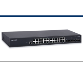 REPOTEC 20-P Gigabit + 4-TP/SFP(100/1G) combo + 2-SFP(100/1G) slot L2+ Managed PoE+ Switch | RP-PG3226I