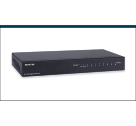 REPOTEC 8-P Gigabit Ethernet Switch with Loop Detection + QoS | RP-G1408Q
