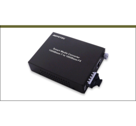 REPOTEC 1000Base-T to 1000Base-SX/LX Smart Gigabit ethernet media converter | RP-1000SC