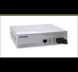 REPOTEC 10/100TX to 100FX PoE Media Converter | RP-130PSC