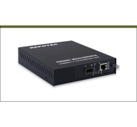 REPOTEC 10/100/1000Base-TX to 1000Base-X SFP Gigabit Media Converter | RP-MC211