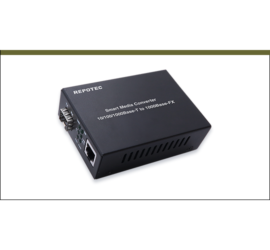 REPOTEC 10/100/1000 Base-TX to 1000Base-FX Smart Gigabit Ethernet Media Converter | RP-MC311FP