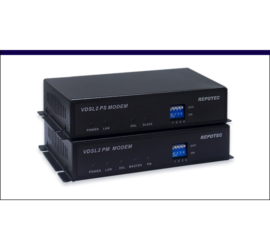 REPOTEC Coaxial over VDSL2 Line power Extender | RP-VC102CK