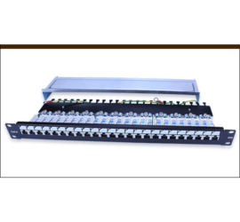 REPOTEC 19inch Fully Shield Patch Panel