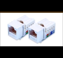 REPOTEC Unshielded Keystone Jack, IDC type, T568B wired | RP-K8C50E