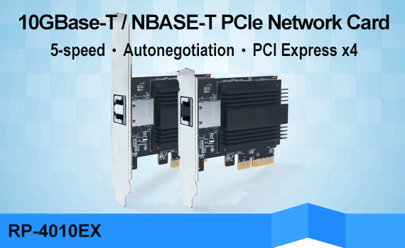 REPOTEC 10GBase-T/NBASE-T PCI Express Adapter | RP-4010EX